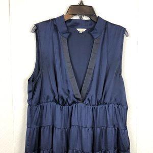 Fossil blue silk dress